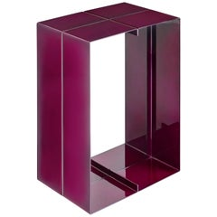 Contemporary Steel Side Table by Luuk van den Broek, Magenta