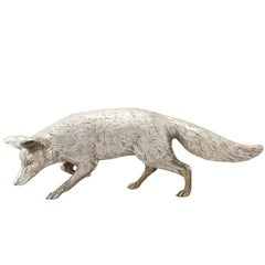 Contemporary Sterling Silver Model of a Fox