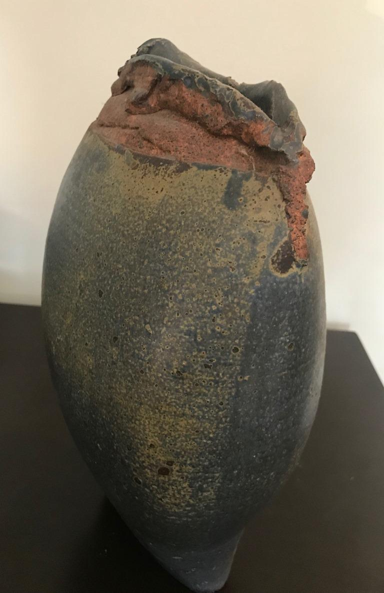 American Contemporary Stoneware Vessel Attributed to Adam Silverman For Sale