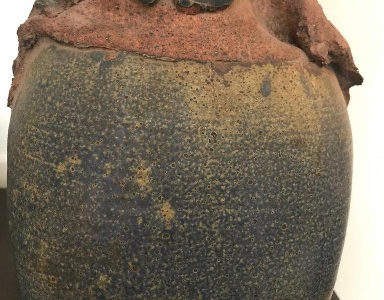 20th Century Contemporary Stoneware Vessel Attributed to Adam Silverman For Sale