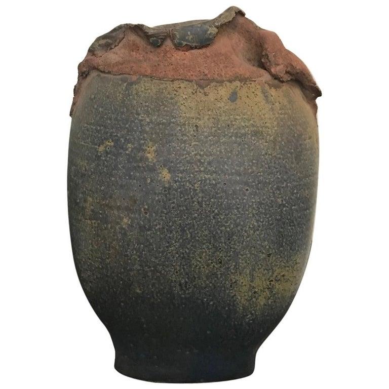 Contemporary Stoneware Vessel Attributed to Adam Silverman For Sale