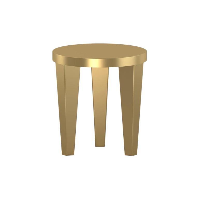 Contemporary Stool Gold Bob by Chapel Petrassi