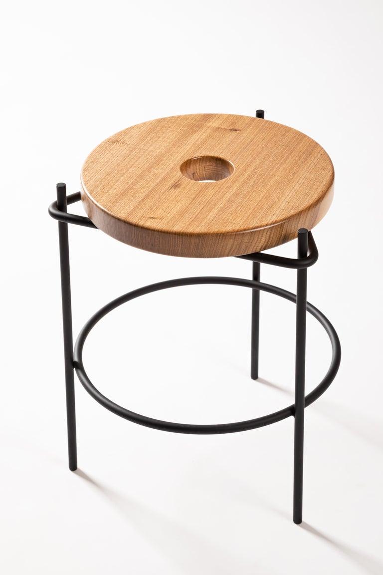 Brazilian Minimalist Stool in Solid Wood