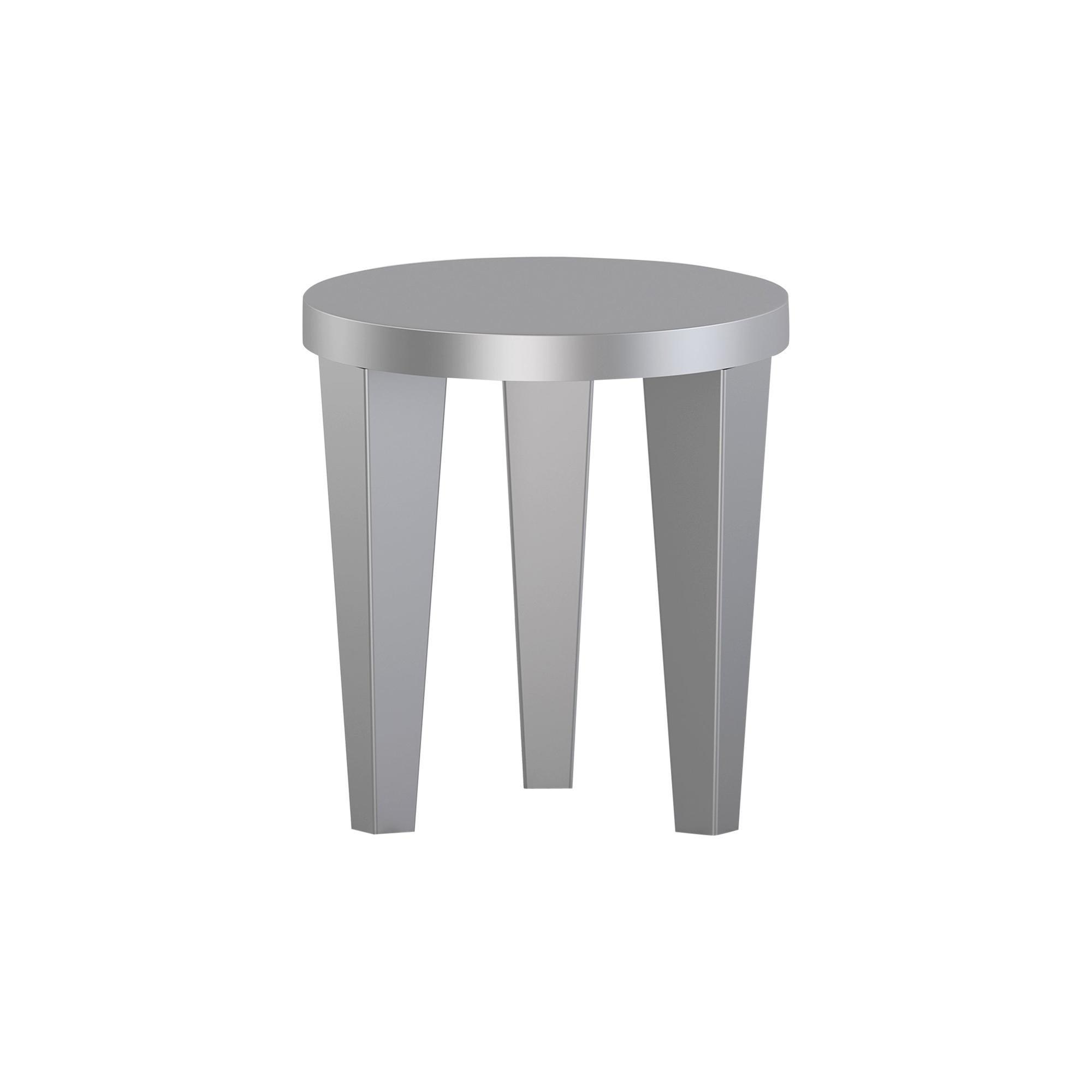 Contemporary Stool Silver Bob by Chapel Petrassi