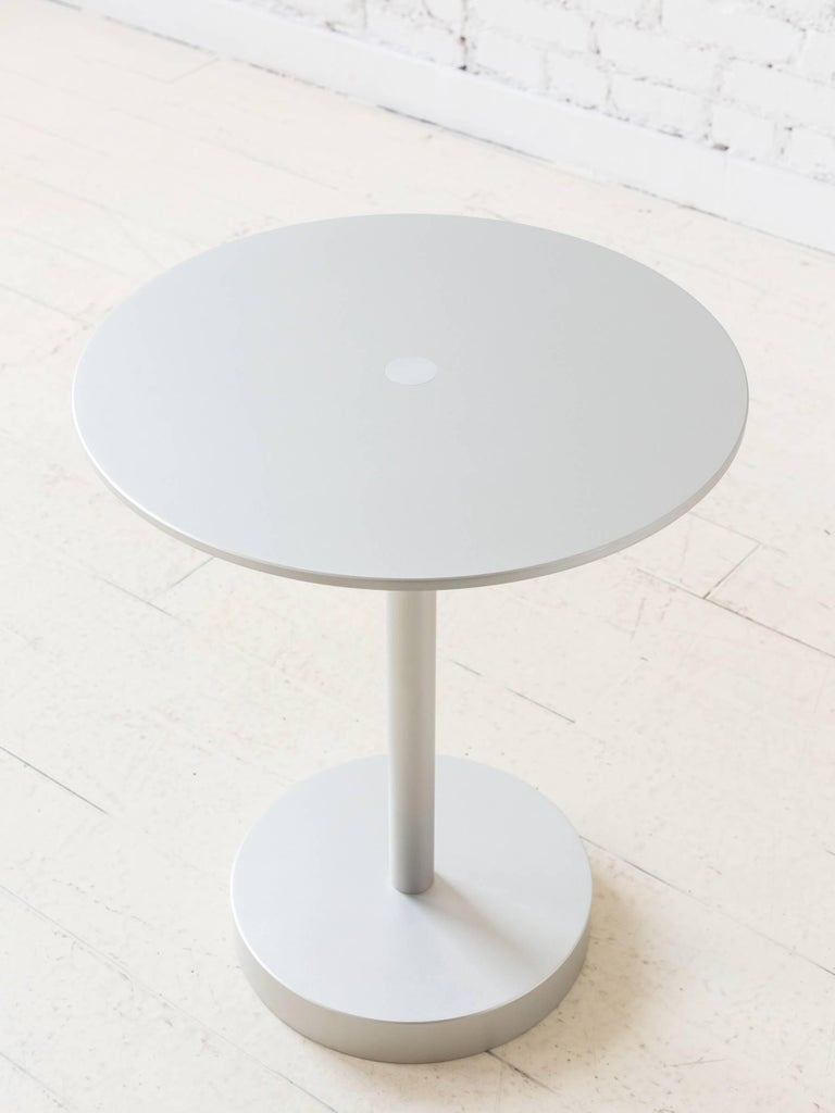 Contemporary Strata Side Table in Anodized Aluminum by Fort Standard, in Stock In New Condition For Sale In Brooklyn, NY