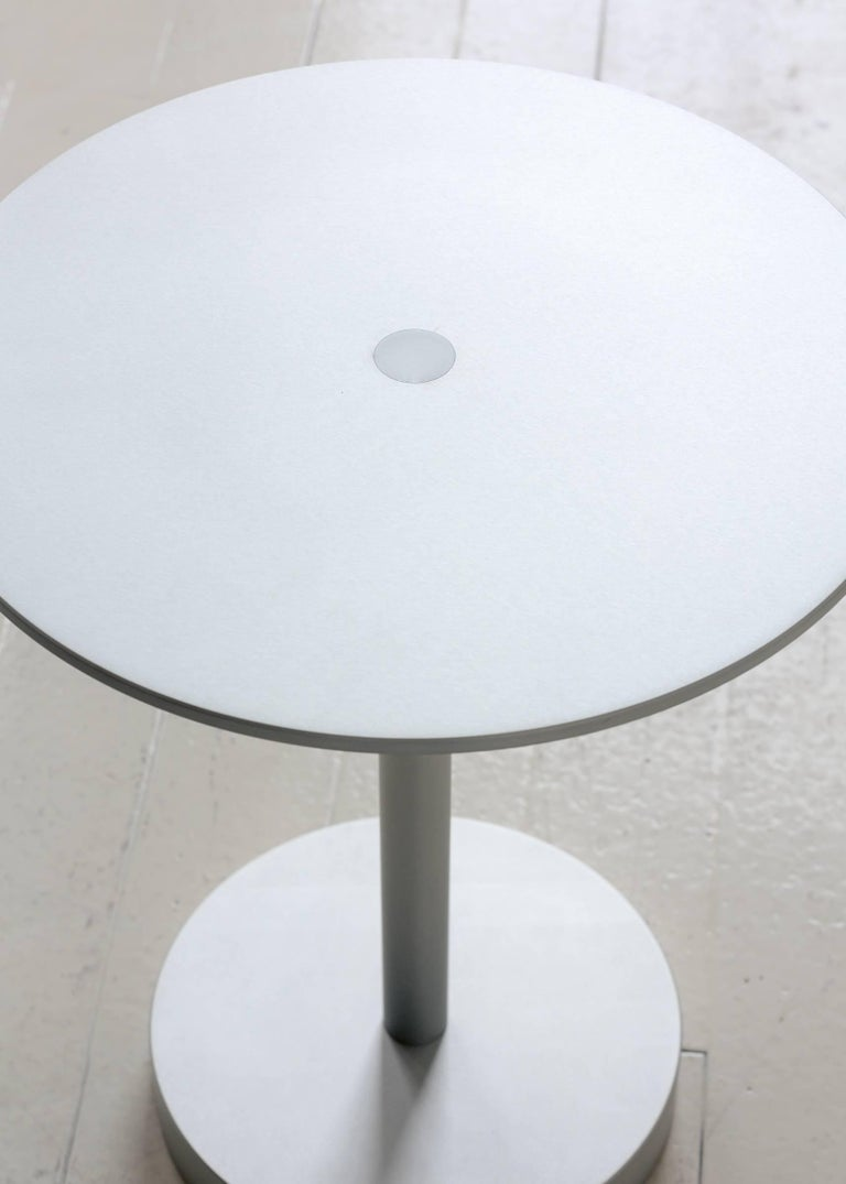 Contemporary Strata Side Table in Anodized Aluminum by Fort Standard, in Stock For Sale 1