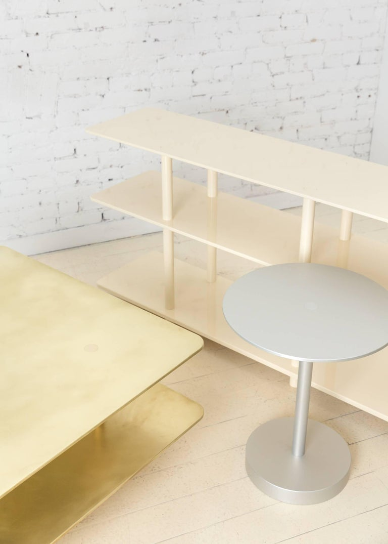 Contemporary Strata Side Table in Anodized Aluminum by Fort Standard, in Stock For Sale 3