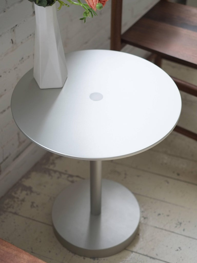 American Contemporary Strata Side Table in Anodized Aluminum by Fort Standard, in Stock For Sale