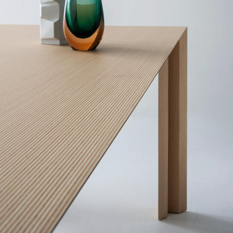 Italian Contemporary Striped Pattern Wood Table by Sebastiano Bottos, Italia For Sale