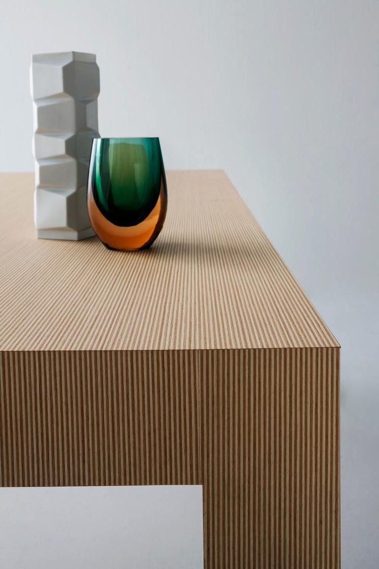 Contemporary Striped Pattern Wood Table by Sebastiano Bottos, Italia In New Condition For Sale In Pordenone, IT