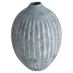 Contemporary Studio Ceramic Vase by Peter Beard British, PFB Seal / Mark, 1980s