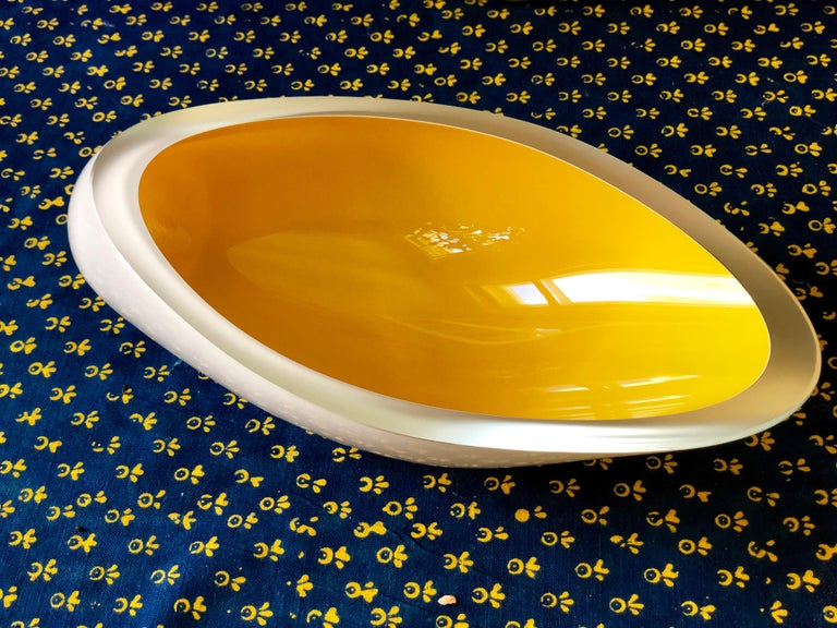 Contemporary Studio Glass Bowl Made in the Czech Republic After 2010 For Sale 5