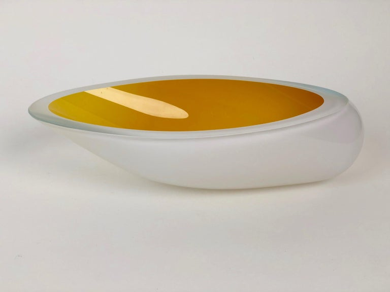 Post-Modern Contemporary Studio Glass Bowl Made in the Czech Republic After 2010 For Sale
