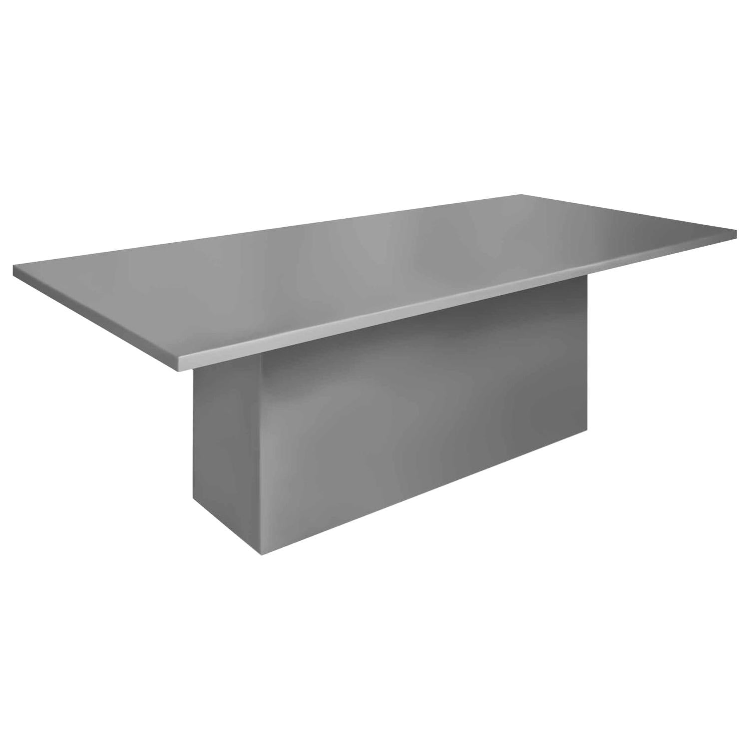 Contemporary Style Dining Table for Outdoor Use, Matte Grey