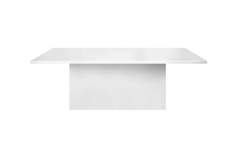 Portuguese Contemporary Style Dining Table for Outdoor Use, Matte White For Sale