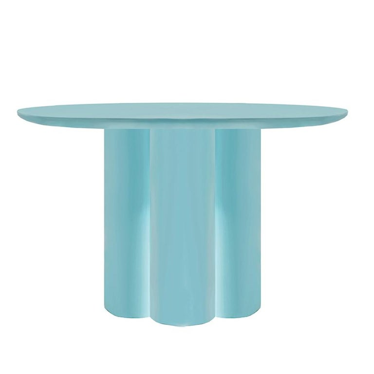Modern Contemporary Style Lacquered Wood Dining Table Mediterranean For Sale