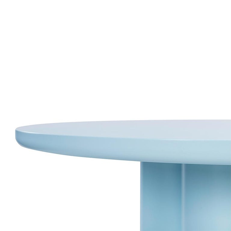 European Contemporary Style Lacquered Wood Dining Table Mediterranean For Sale