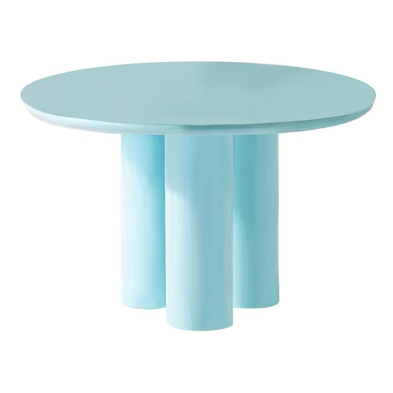 Contemporary Style Lacquered Wood Dining Table Mediterranean For Sale