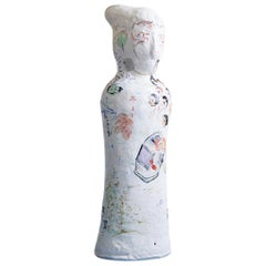 Contemporary Suijin Chung Sculpture in Porcelain with Decorations, Korea 2006
