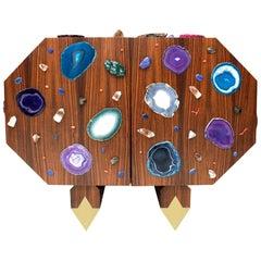 "Contemporary Superego Studio ""Amazzonia"" Octagonal Shape Italian Sideboard"