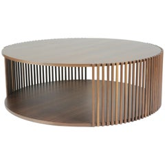 Contemporary Table, Coffee Table, Central Table and Cocktail Table Walnut