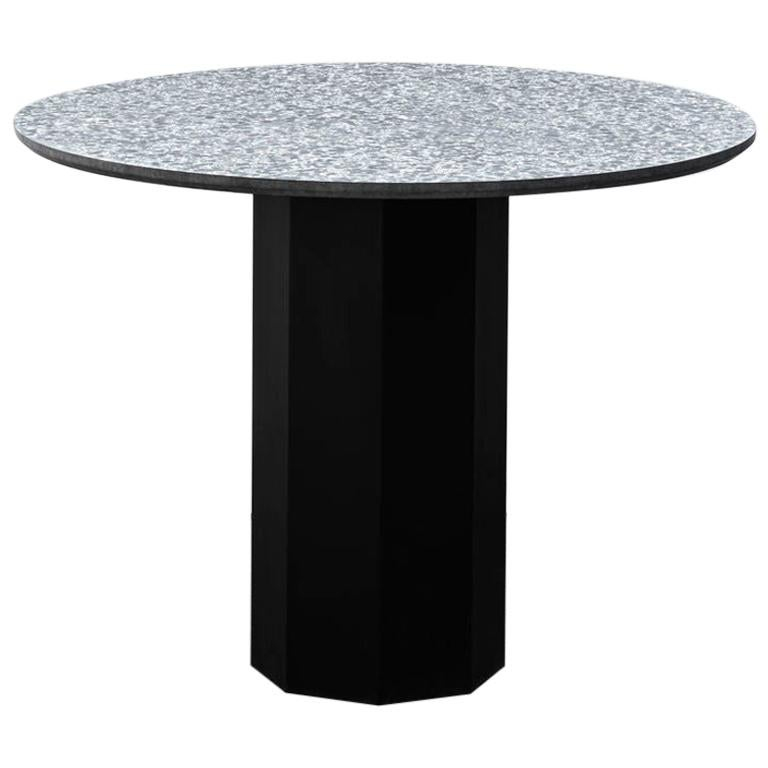 Contemporary Table 'Gong' 'black terrazzo' For Sale