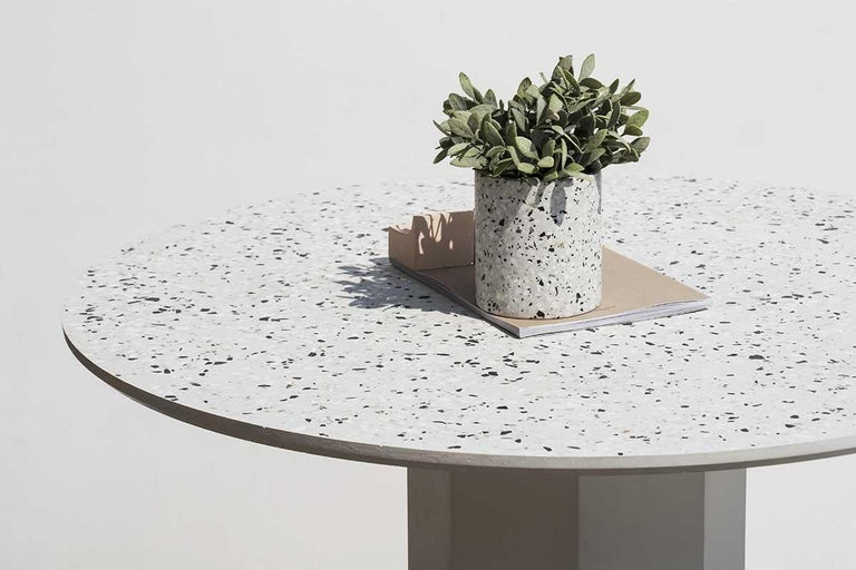 Chinese Contemporary Table 'Gong' 'white terrazzo' For Sale