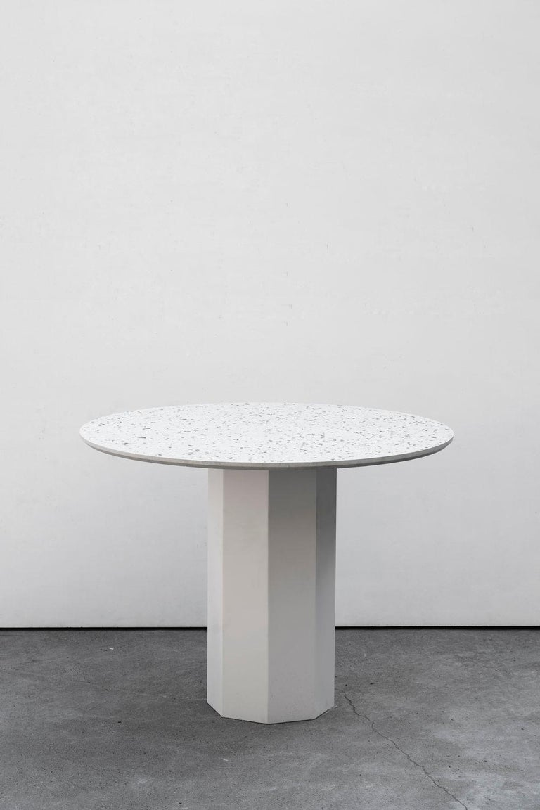 Contemporary Table 'Gong' 'white terrazzo' For Sale 2