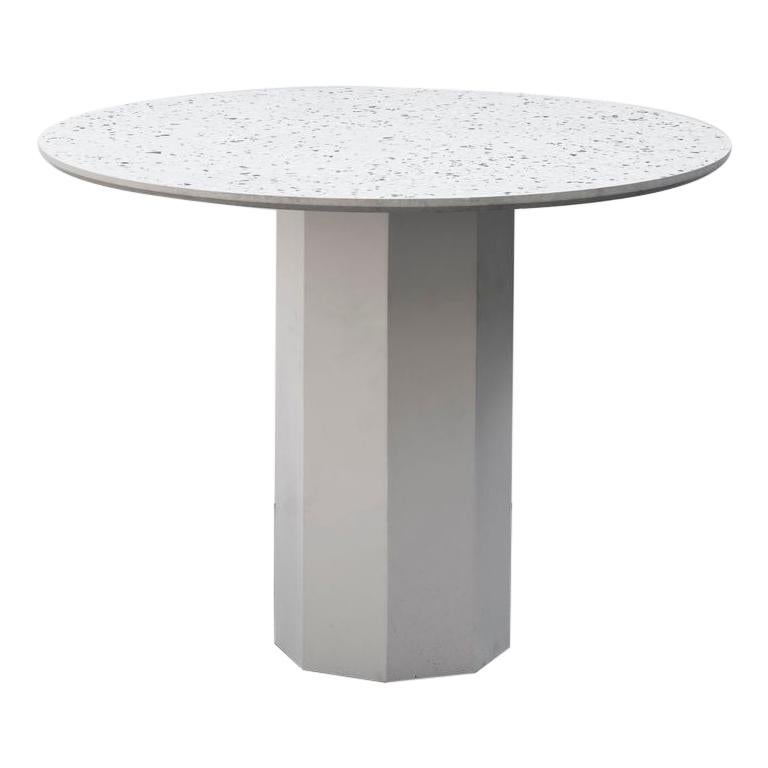 Contemporary Table 'Gong' 'white terrazzo' For Sale