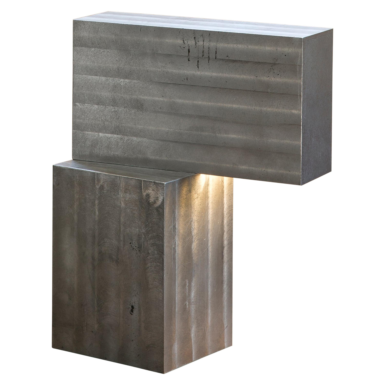 Contemporary Table Lamp in Aluminum by Bahraini Danish