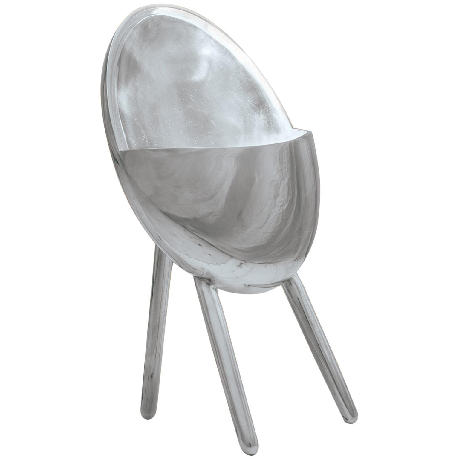 Contemporary Table Lamp in Cast Aluminum