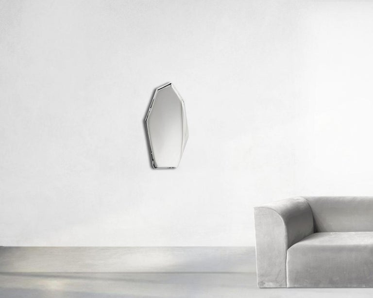 Contemporary 'Tafla C4' Mirror in Stainless Steel by Zieta Prozessdesign In New Condition For Sale In Paris, FR