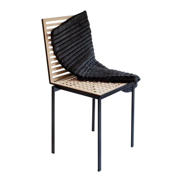 Contemporary Tanit Classic Chair in Beige Colored Aluminum For Sale 5