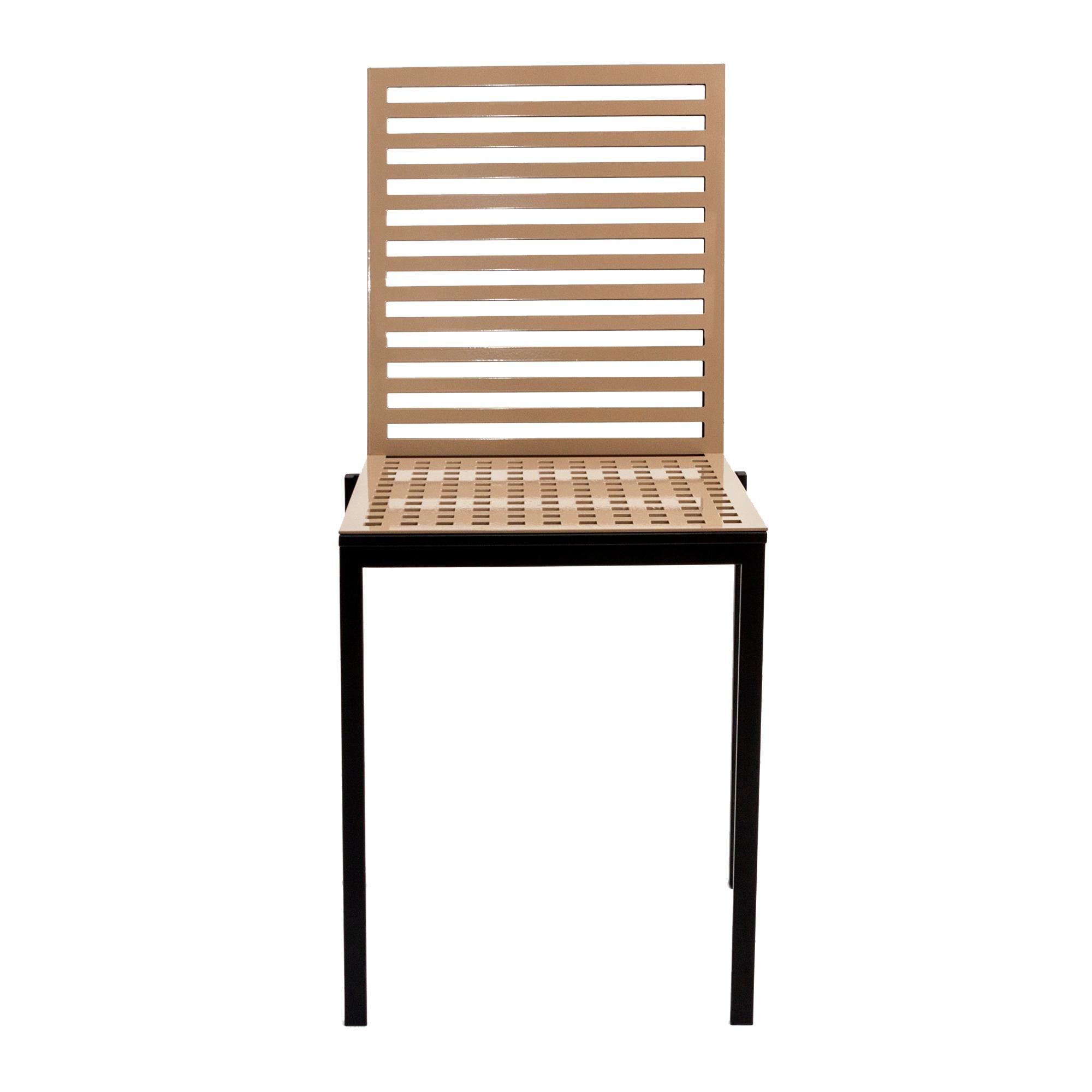 Contemporary Tanit Classic Chair in Beige Colored Aluminum