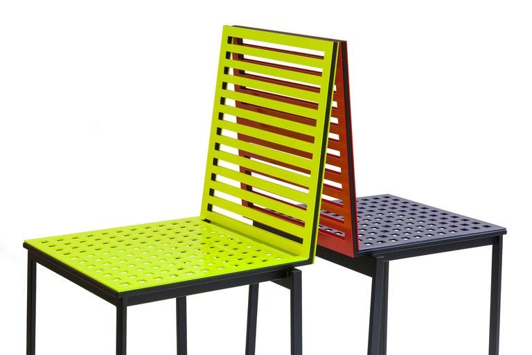 Contemporary Tanit Classic Chair in Bicolored Aluminum, Manhattan Version For Sale 5