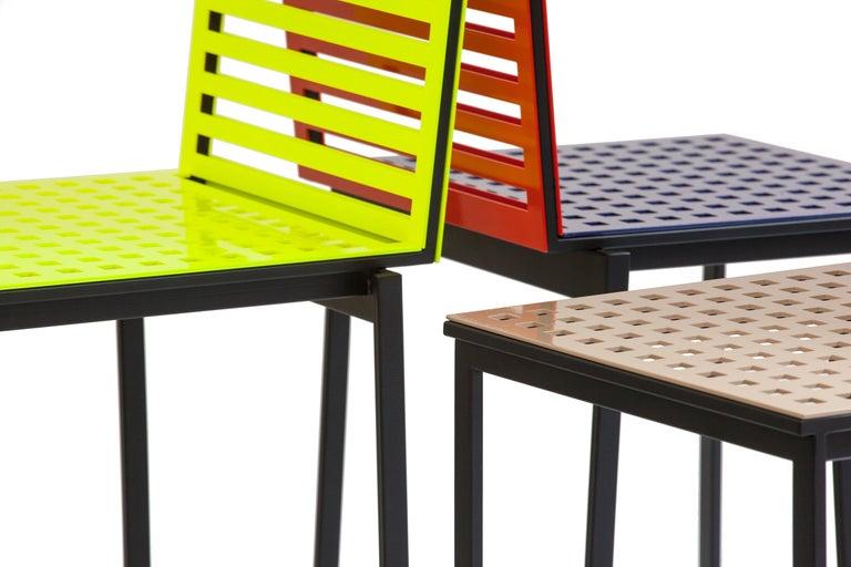 Contemporary Tanit Classic Chair in Bicolored Aluminum, Manhattan Version For Sale 6