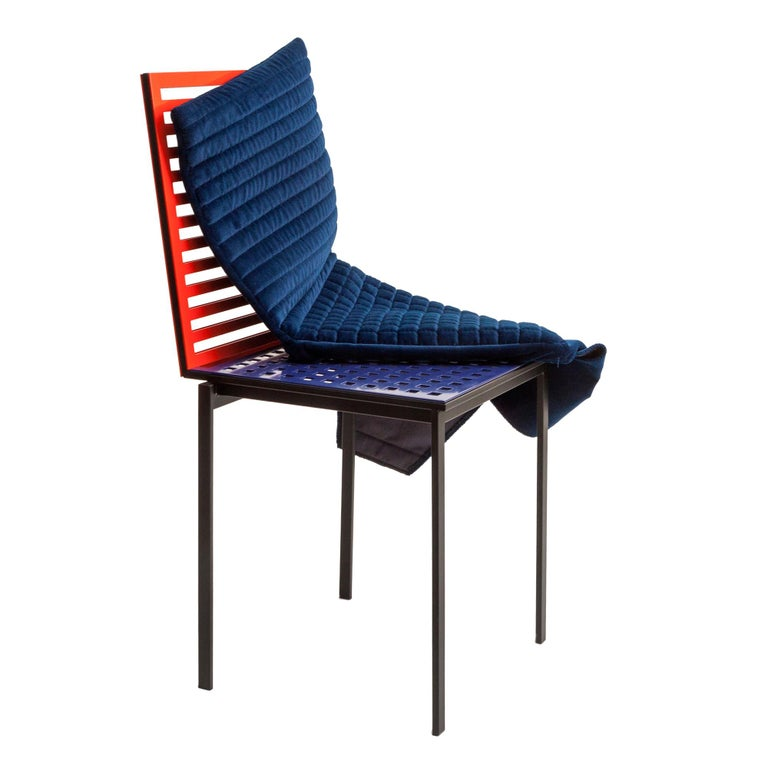 Contemporary Tanit Classic Chair in Bicolored Aluminum, Manhattan Version For Sale 7