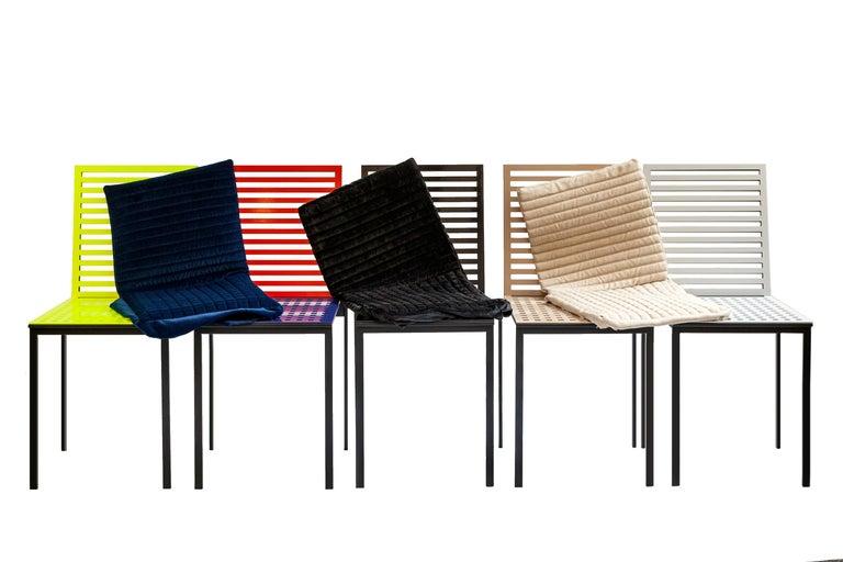 Contemporary Tanit Classic Chair in Bicolored Aluminum, Manhattan Version For Sale 9