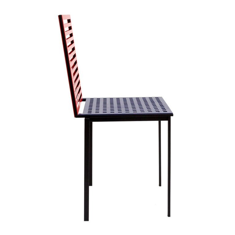 Mid-Century Modern Contemporary Tanit Classic Chair in Bicolored Aluminum, Manhattan Version For Sale
