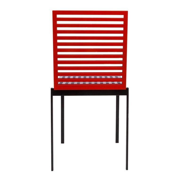 Italian Contemporary Tanit Classic Chair in Bicolored Aluminum, Manhattan Version For Sale