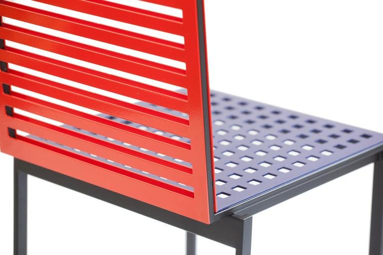 Contemporary Tanit Classic Chair in Bicolored Aluminum, Manhattan Version For Sale 1