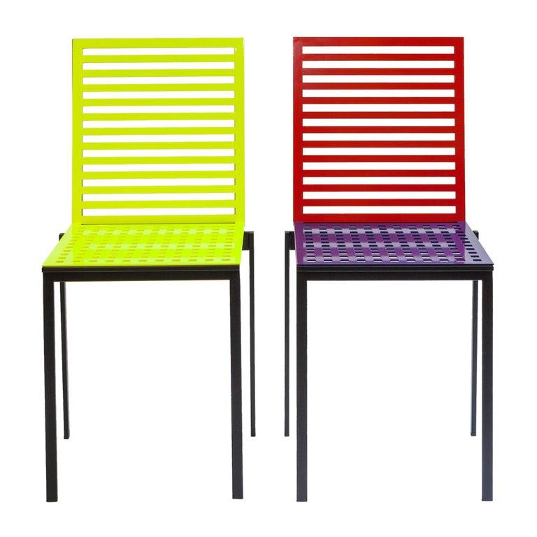 Contemporary Tanit Classic Chair in Bicolored Aluminum, Manhattan Version For Sale 3