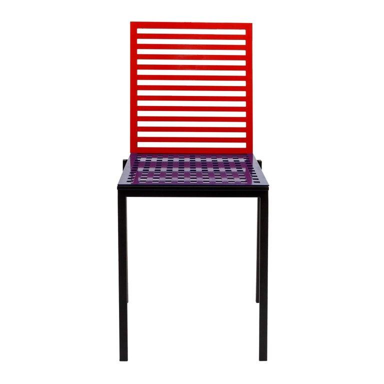 Contemporary Tanit Classic Chair in Bicolored Aluminum, Manhattan Version For Sale