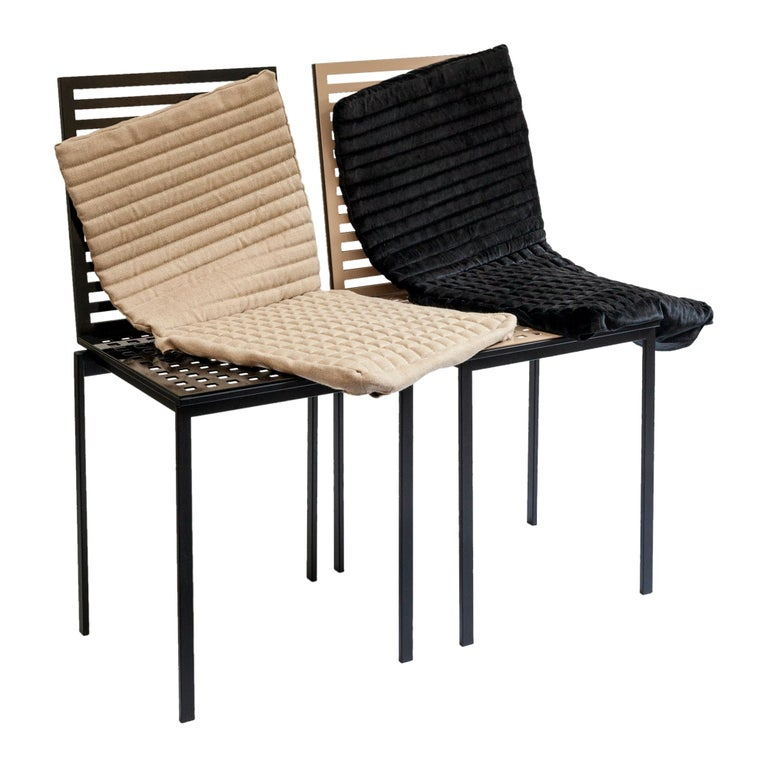 Contemporary Tanit Classic Chair in Black Colored Aluminum For Sale 6