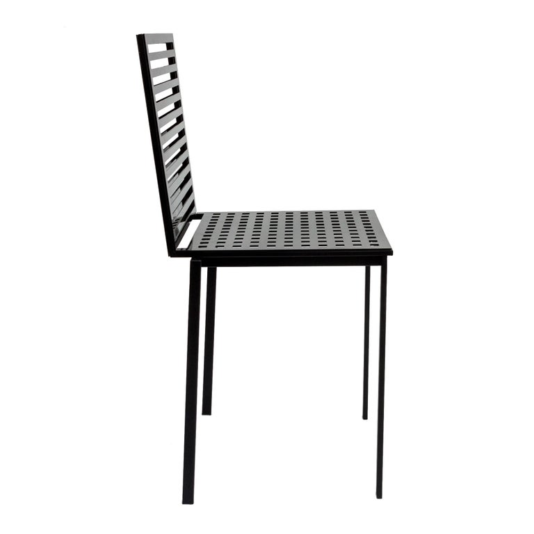 Mid-Century Modern Contemporary Tanit Classic Chair in Black Colored Aluminum For Sale