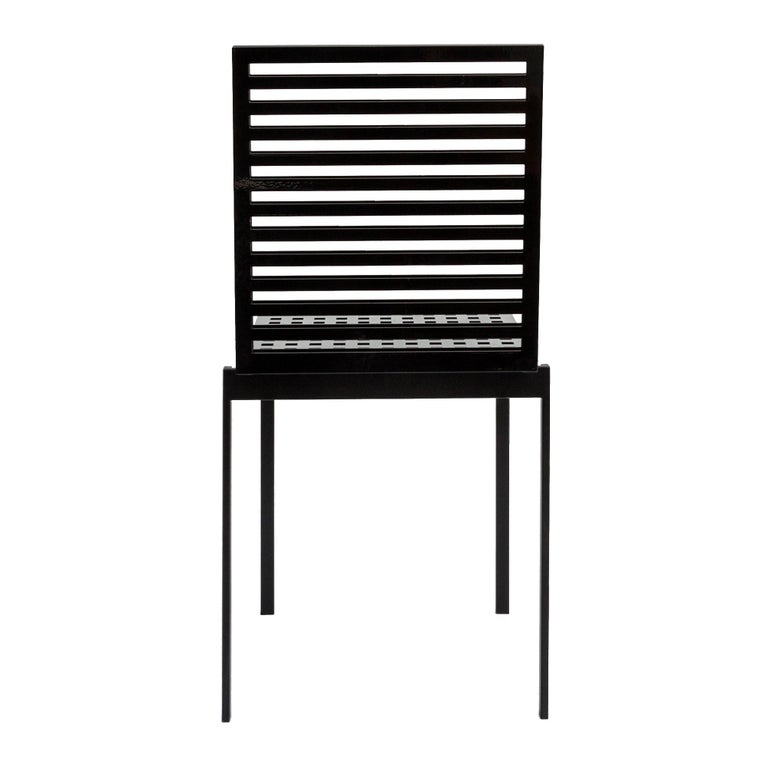 Italian Contemporary Tanit Classic Chair in Black Colored Aluminum For Sale