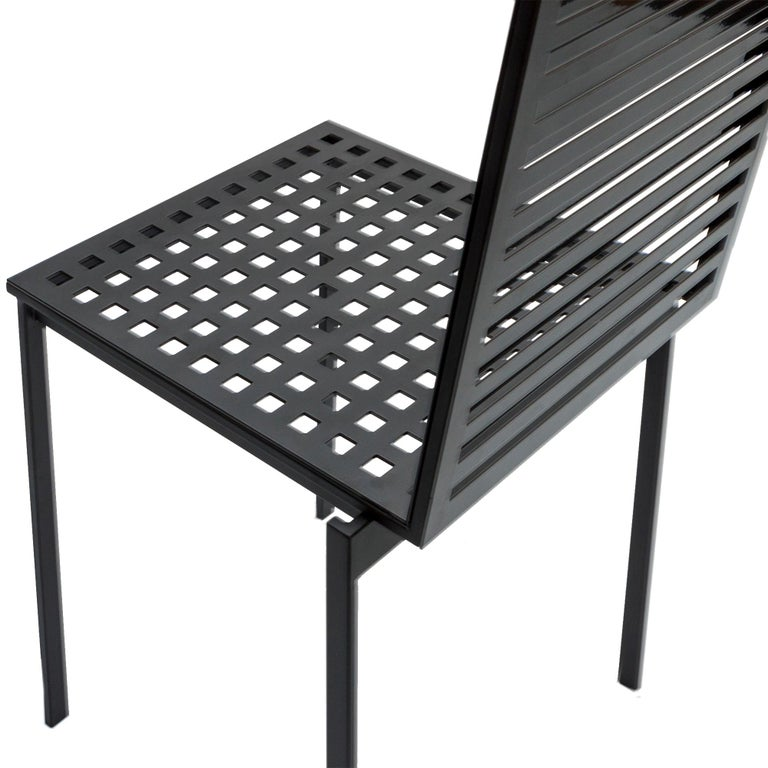 Metalwork Contemporary Tanit Classic Chair in Black Colored Aluminum For Sale