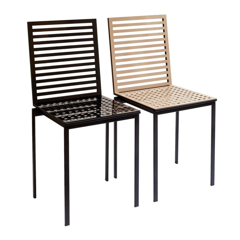 Contemporary Tanit Classic Chair in Black Colored Aluminum For Sale 1