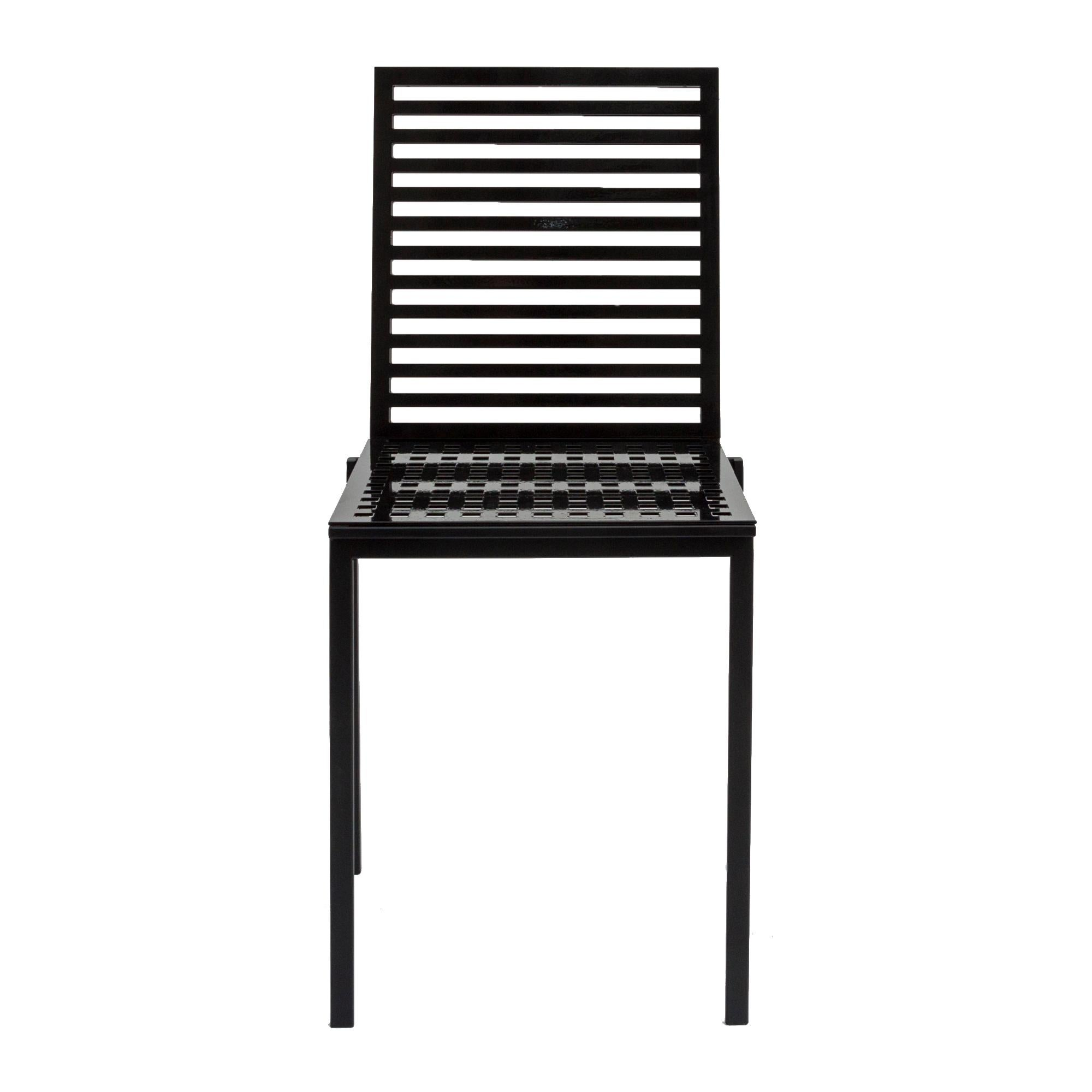 Contemporary Tanit Classic Chair in Black Colored Aluminum
