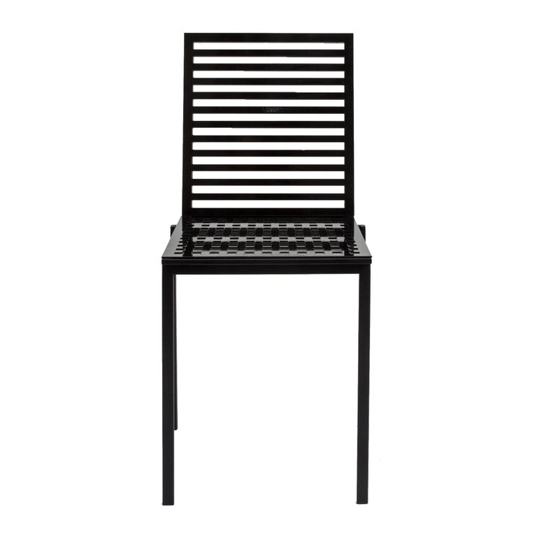 Contemporary Tanit Classic Chair in Black Colored Aluminum For Sale